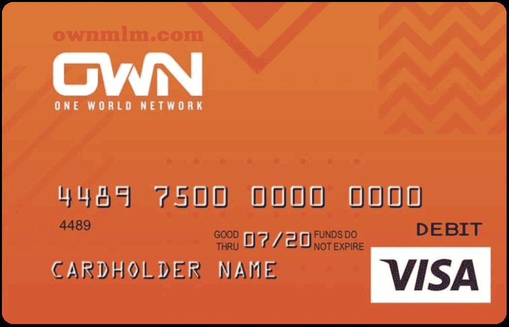 Onw World network credit card Visa