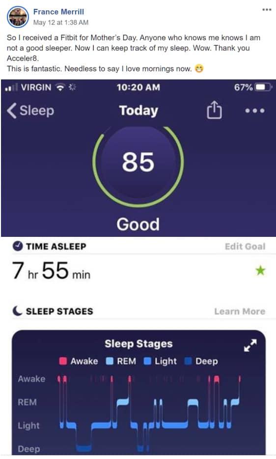 Acceler8 for deep sleep